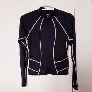 Nike black athletic zipper jacket